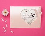 結婚式招待状 パピヨンP(ピンク)